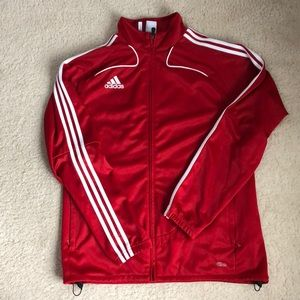 Adidas men's red track jacket